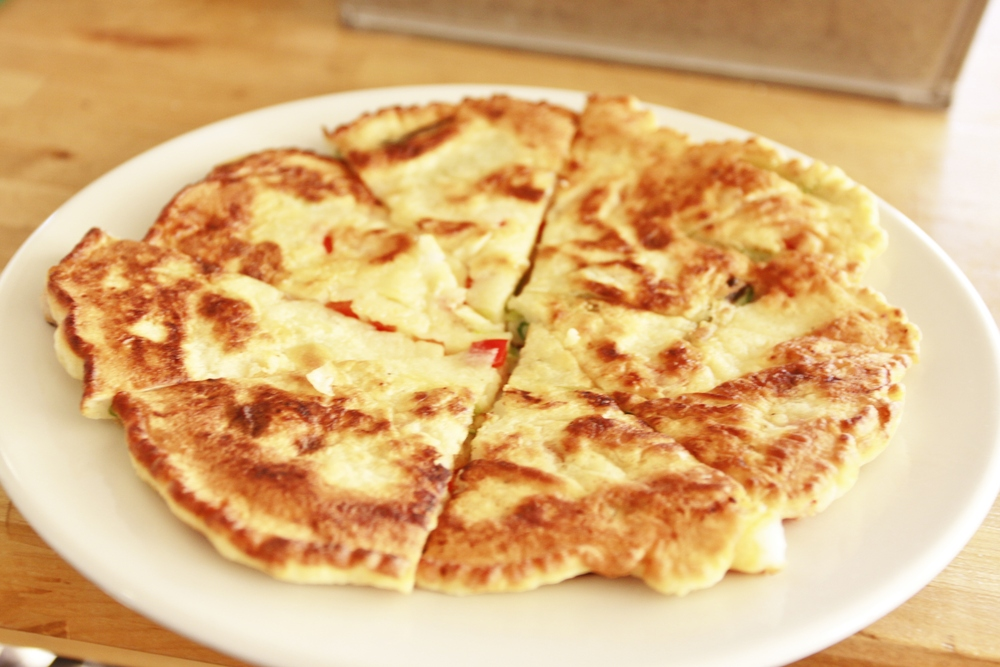 Haemul Pajeon (Korean Seafood and Scallion Pancakes)