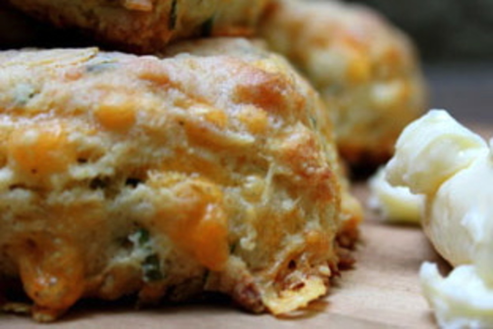 Cheddar Cheese Chive Buttermilk Biscuits